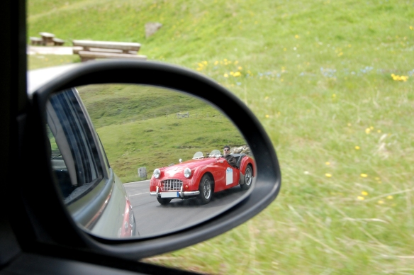 Red Sports Car in Mirror