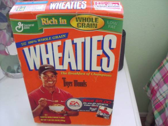 Tiger Woods Box of Wheaties